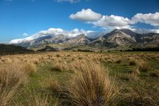 Free Beautiful Mountain And Field, Summer In New Zealand. Royalty Free Stock Image - 28551986