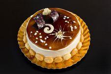 Free Delicious Tiramisu Cake With Sweet Decorations Royalty Free Stock Photo - 28553335