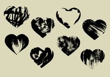 Free Imprinted Hearts Stock Images - 28555104