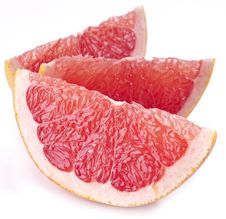 Slices Of Grapefruit. Royalty Free Stock Photography