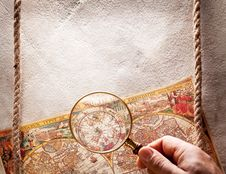 Free Viewed Through A Magnifying Glass. Royalty Free Stock Image - 28557246