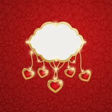 Free Red Background With Hearts. Stock Photos - 28558363