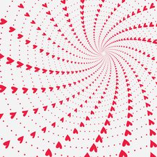 Free Twisting And Spinning Hearts Valentines Background Stock Image - 28559871