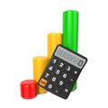 Free Business Concept With Calculator And Diagram. Royalty Free Stock Photos - 28564818