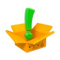 Free Opened Box With Exclamation Mark. Royalty Free Stock Photography - 28564907