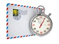 Free Stopwatch And Letter. Stock Photos - 28564923