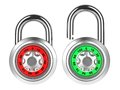 Free Combination Padlock Isolated On White. Stock Photography - 28564932