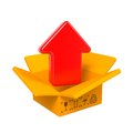Free Open Color Cardboard Box And Arrow. For Design. Stock Photography - 28564972