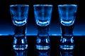 Free Three Shot Glasses Royalty Free Stock Photography - 28566277