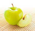 Free Yellow Apple With Apple Slice Stock Images - 28567264