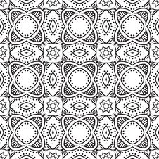 Graphic Floral Detailed Seamless Vector Pattern Royalty Free Stock Photo