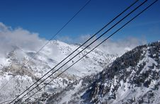 View To The Mountains From Snowbird Ski Resort In Utah, USA Royalty Free Stock Photography