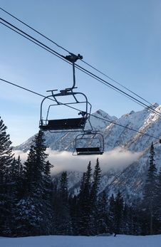 View To The Mountains From Snowbird Ski Resort Stock Photography