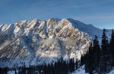 View To The Mountains From Snowbird Ski Resort In Utah, USA Stock Photos