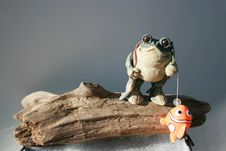 Free Fishing Frog Stock Photo - 28562200