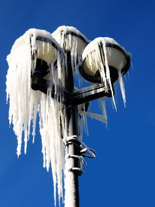 Free Iced Street Lamp Stock Photos - 28562213