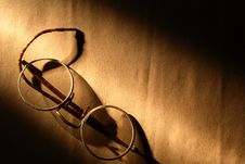 Old Spectacles Royalty Free Stock Images
