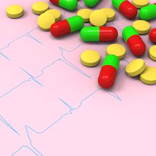 Free Pills And Capsules On Abnormal Electrocardiogram &x28;ECG&x29; Report Stock Photos - 28564173