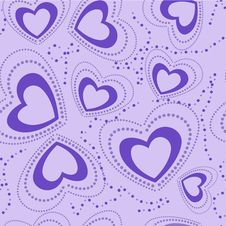 Free Seamless Pattern With Blue Hearts Stock Image - 28564311
