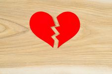 Free Beautiful Heart On The Background Of Wood Royalty Free Stock Photography - 28564517