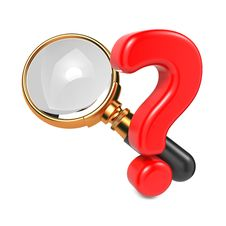 Free Magnifying Glass With Question Mark. Royalty Free Stock Photo - 28564795