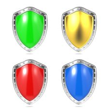 Free Blank Protection Shields. Stock Photos - 28564823