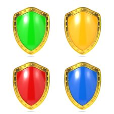 Free Blank Protection Shields. Stock Photo - 28564840