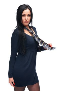 Free Girl With A Tie Stock Photo - 28565140