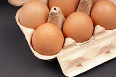 Free Eggs In An Egg Carton Stock Photography - 28566302