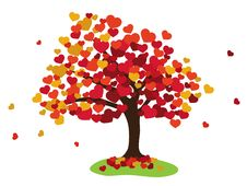 Free Valentines Tree Background Stock Photos - 28566633