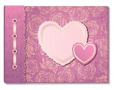 Free Photo Album With Hearts Stock Image - 28567261