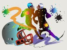 Free American Football Art Stock Image - 28569361