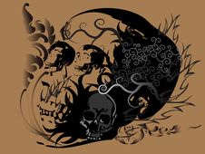 Free Art Skull Pattern Tattoo Stock Images - 28569394