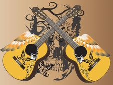 Free Guitar Art Music Tattoo Stock Photo - 28569450