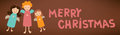 Free Merry Christmas Text Sign Post Card With Angels Royalty Free Stock Image - 28573296