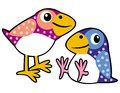 Free Two Childish Birds Royalty Free Stock Photos - 28577168