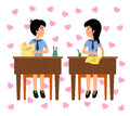 Free Lovers In Class Royalty Free Stock Photos - 28579678