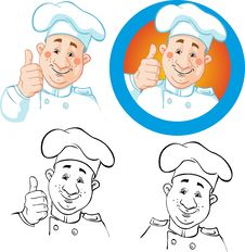 Free Chef Icon And Outline Stock Photography - 28571722