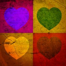 FOUR HEARTS FOR VALENTINE S DAY Stock Image