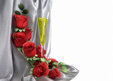 Free Isolate Holiday Background With Roses Stock Images - 28574574