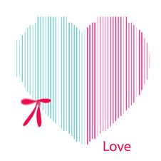 Valentines Day Pink Hearts On White Background Royalty Free Stock Images