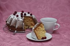 Tea With Cake Royalty Free Stock Images