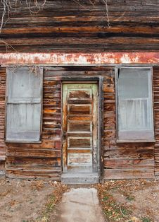 Free Old Time Grocery Door And Window Royalty Free Stock Photography - 28579347