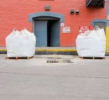 Free Bales Of Grain At A Grain Processing Center Stock Image - 28579351