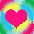 Free Pink Glossy Heart A Colored Background Royalty Free Stock Photography - 28585477