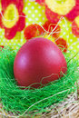 Free Art Easter Greeting Card With Easter Egg Royalty Free Stock Photos - 28586958
