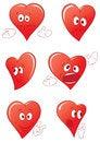 Free Funny Cartoon Hearts Set Stock Photos - 28587143