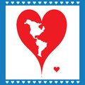 Free Illustration Heart Symbolizing American Map Royalty Free Stock Photography - 28588277