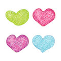 Free Vector Heart Set Royalty Free Stock Photo - 28588285