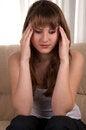 Free Teen Girl With Headache. Stock Photos - 28589893